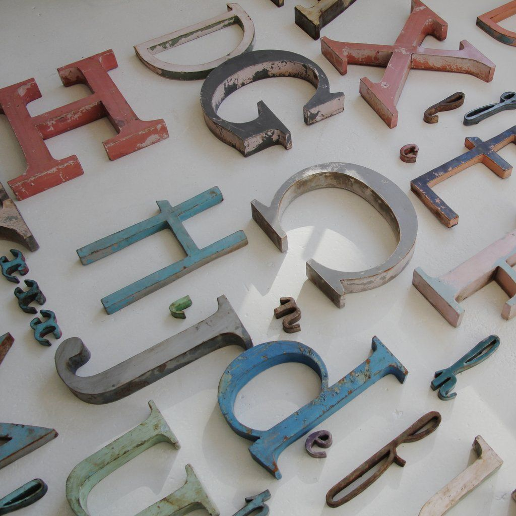 related image large letters metal letters french vintage vintage metal art deco