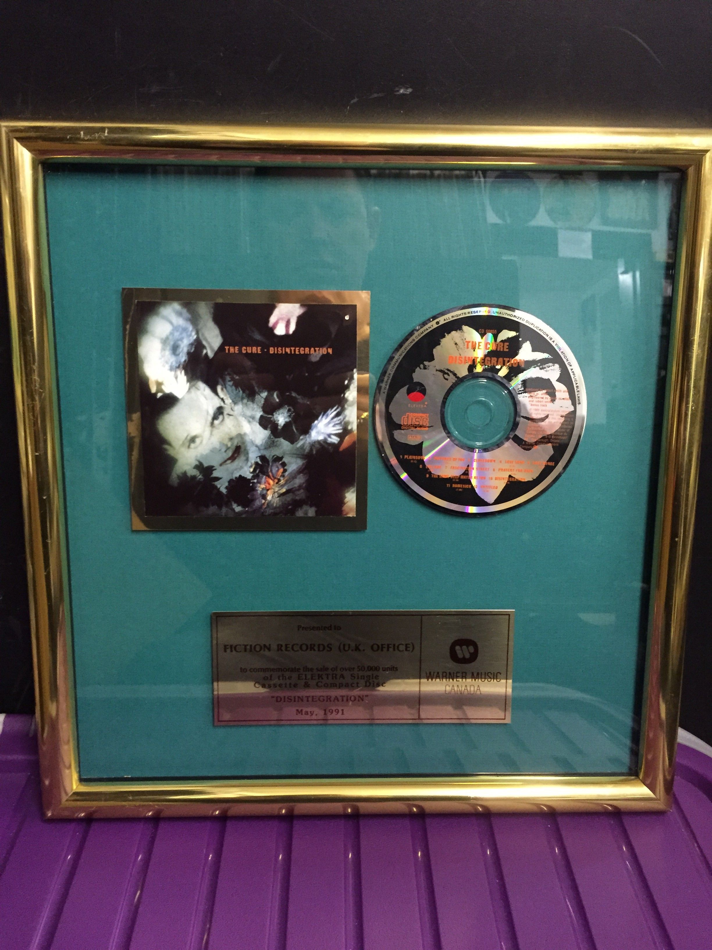 The Cure  Disintegration Cd Framed Presentation ( Compact Disc