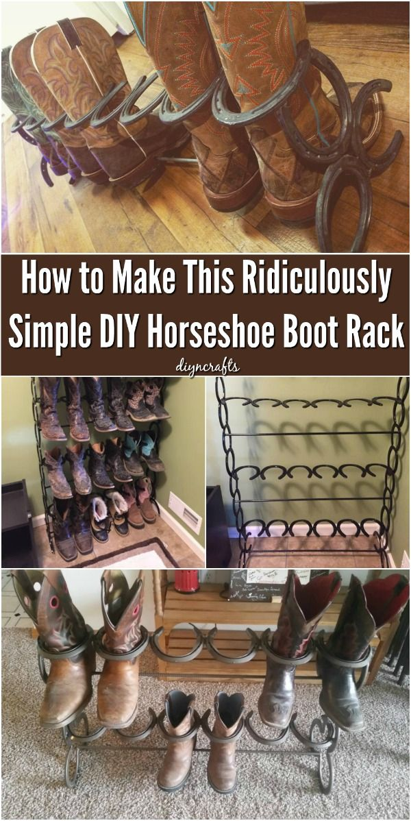 Photo of How to Make This Ridiculously Simple DIY Horseshoe Boot Rack