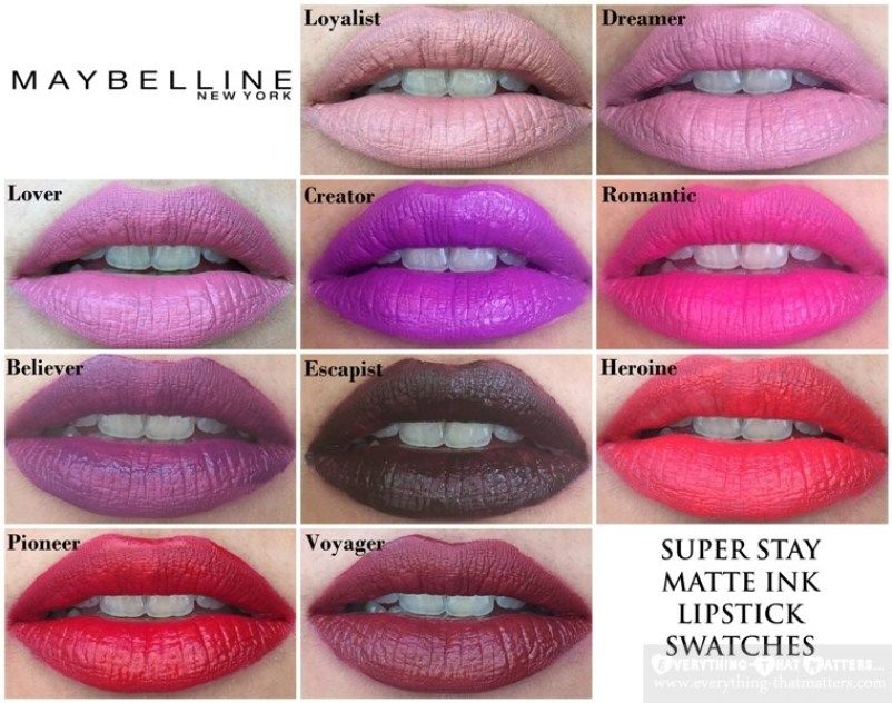 Maybelline Superstay Matte Ink Shade On Light Skin Maquillage