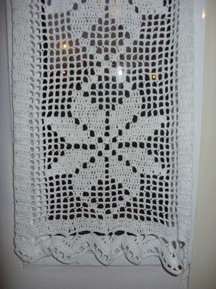 Cortina O Visillo Tejida Al Crochet - $ 290,00 en ...
