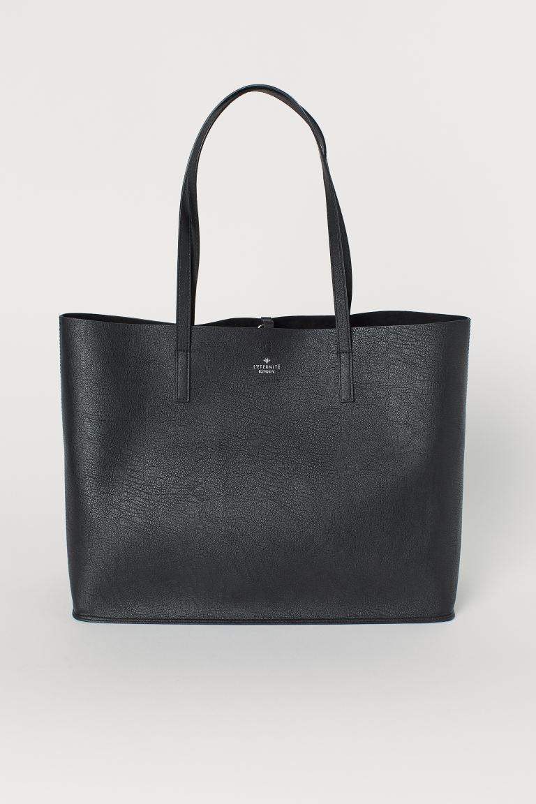 Shopper Black Ladies H M Us Black Handbags Shopper Bag Bag Accessories