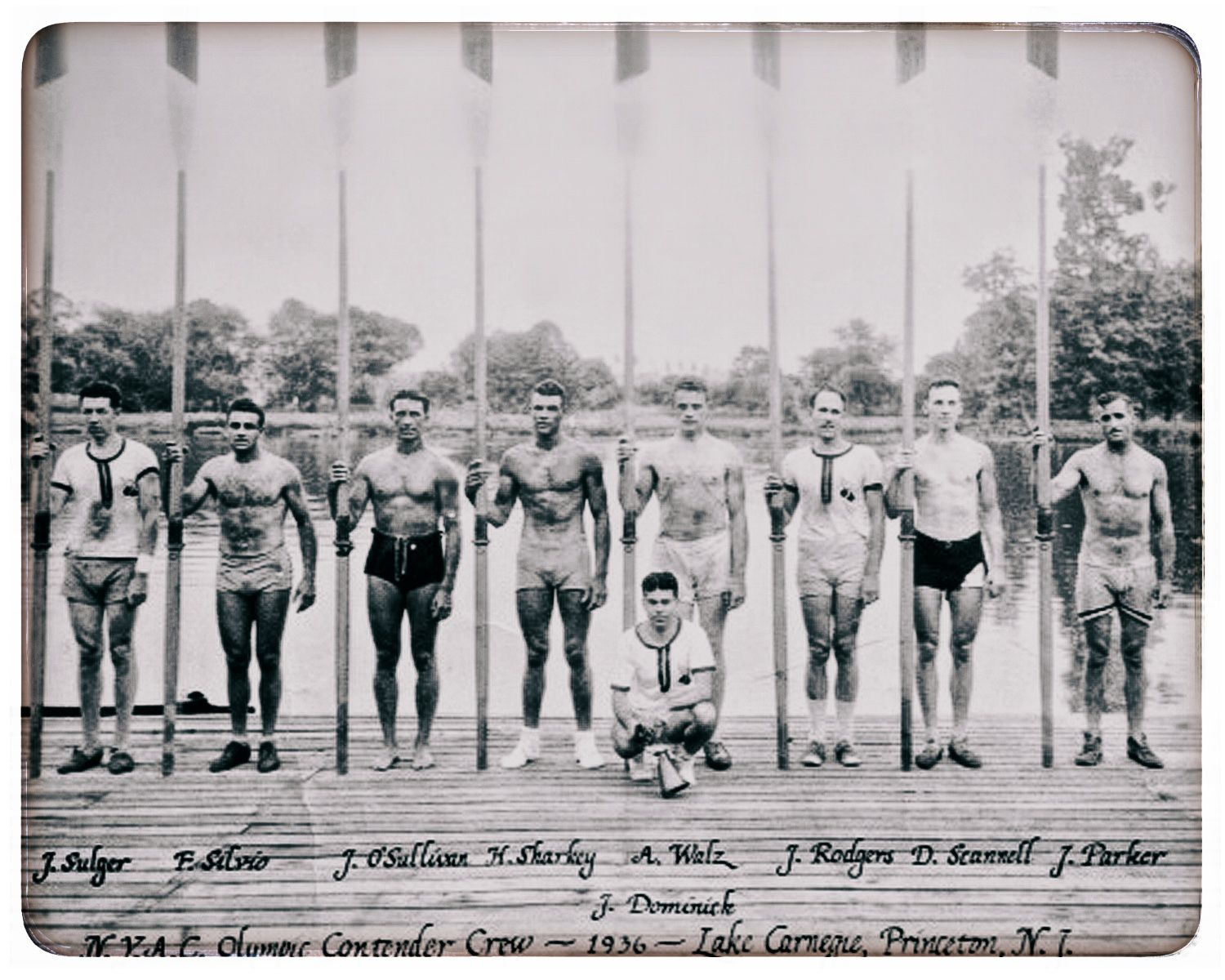 New York Athletic Club Olympic Contender Crew 1936