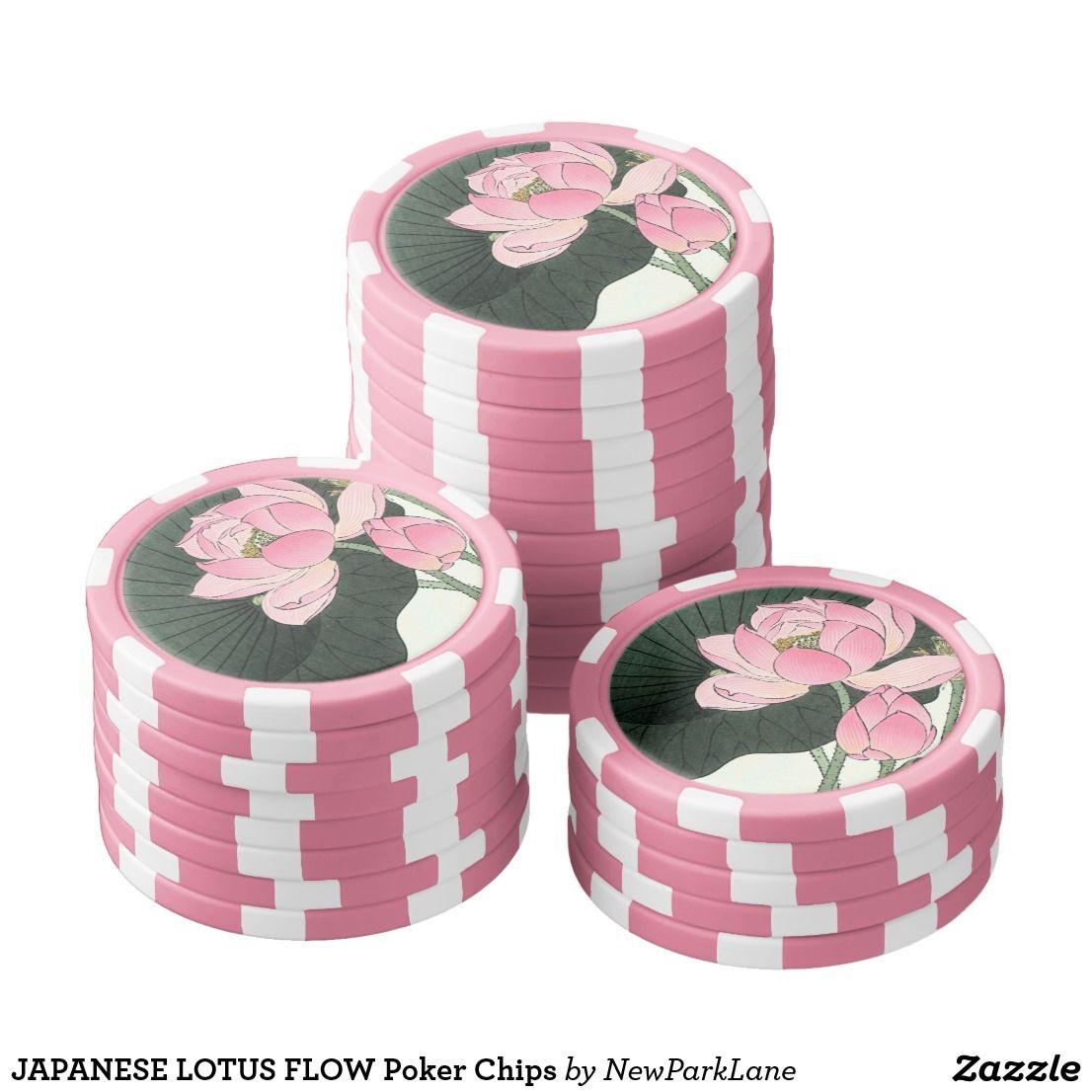 Japanese Lotus Flower Vintage Fine Art Poker Chips Zazzle Com Custom Poker Chips Poker Chips Fun Snacks For Kids