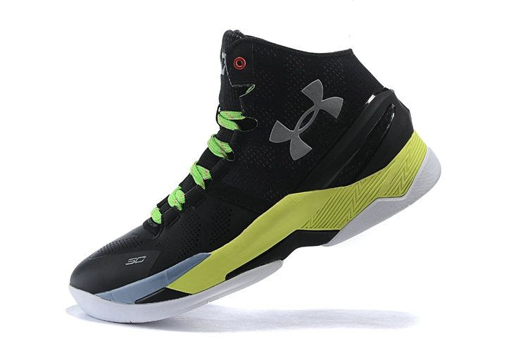 Free Shipping Only 69$ Big Boy Youth UA Steph Curry 2 Two Black SiLVSer  Electric