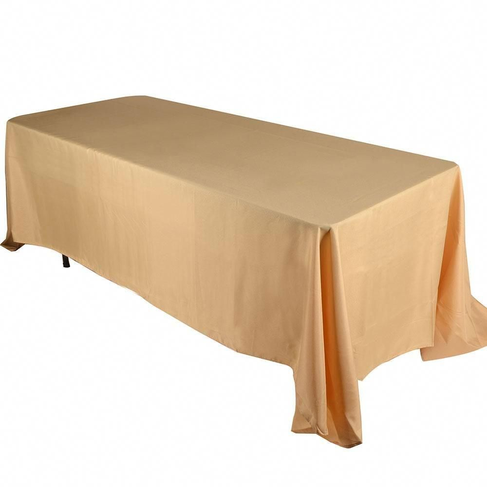 60 Inch X 102 Inch Gold 60 X 102 Rectangle Tablecloths In 2020 Rectangle Tablecloth Table Cloth Wholesale Table Linens