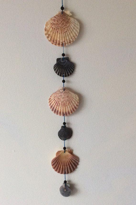 Scallop Shell Mobile Seashell Wall Hanging Seaside Home Decor Windchime Basteln