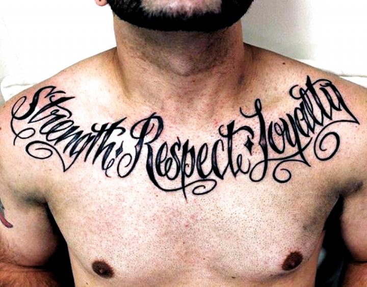 Strength Respect Loyalty Guys Upper Chest Tattoos First Tattoo In 2020 Loyalty Tattoo Tattoos For Guys Neck Tattoo