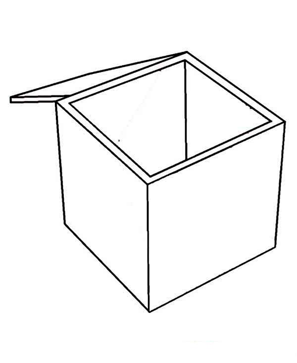 Empty Box Coloring Page Coloring Sun Coloring Pages Color Coloring Pictures