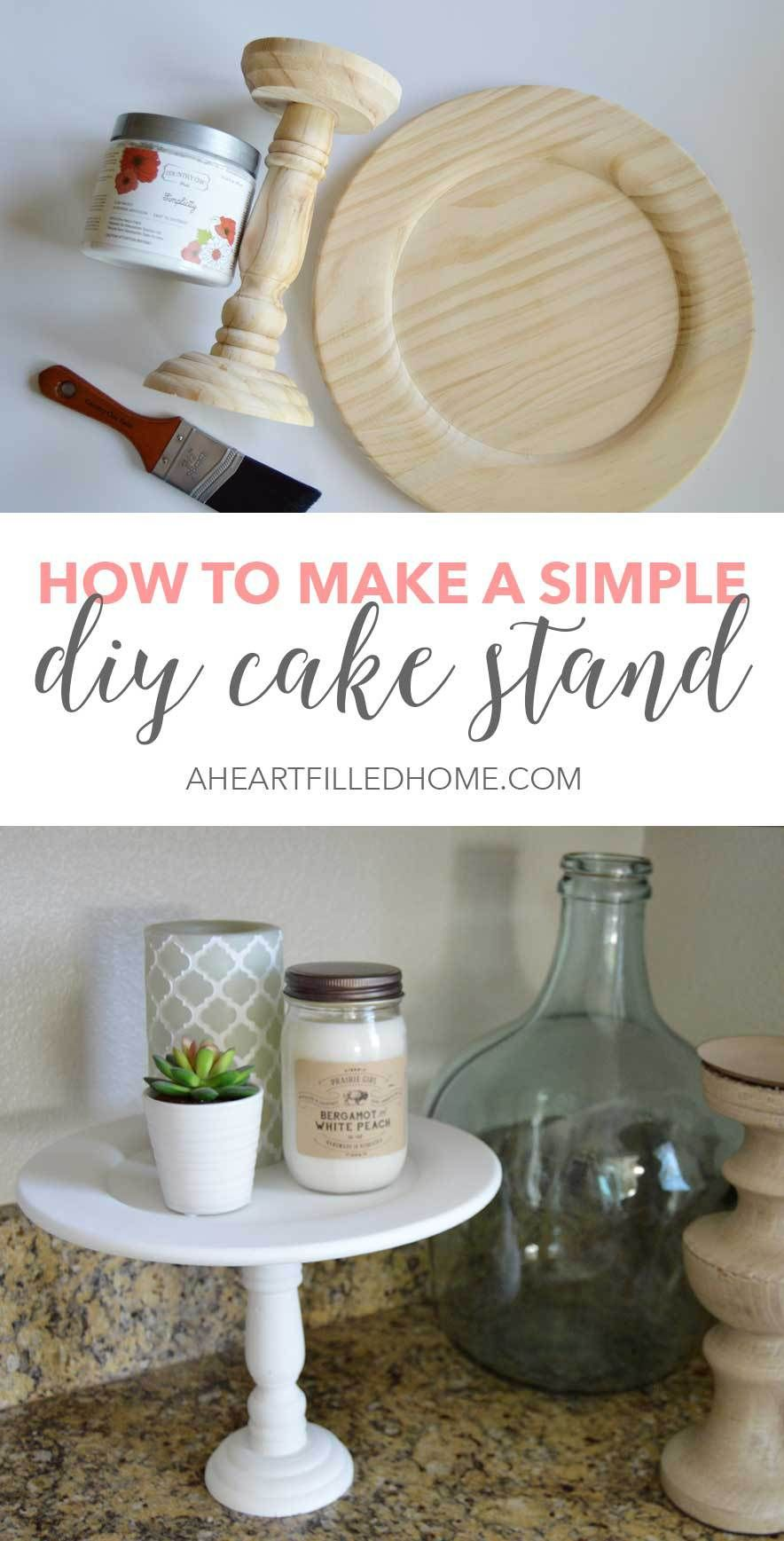 Photo of How To Make A Simple DIY Cake Stand – A Heart Filled Home | DIY & Home Decor