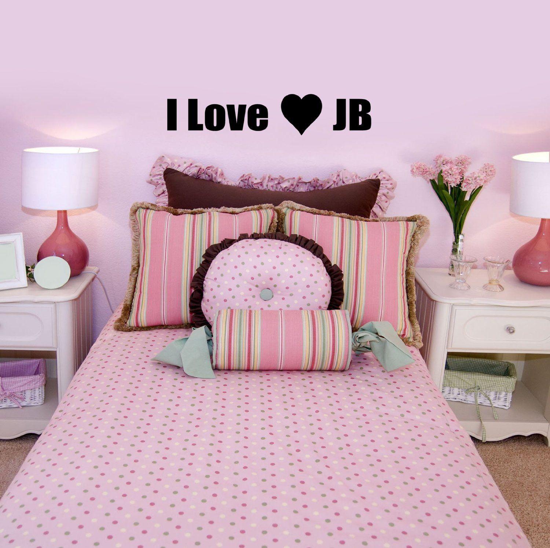 Best I Love Jb Justin Bieber Girls Bedroom Wall Sticker 60X10 640 x 480