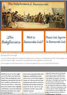 Ancient Civilizations Unit + Free Minibook on the Babylonians & Hammurabi