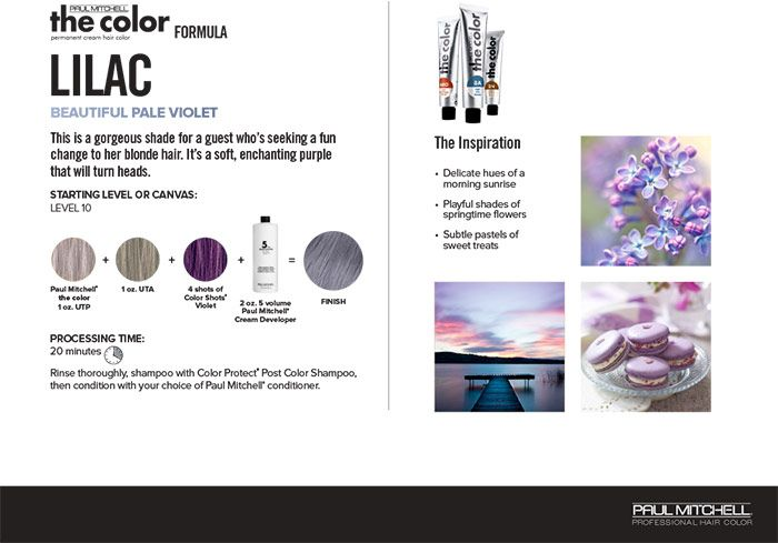 Paul Mitchell Professional Hair Color Chart Hair Color Hair Color Formulas
