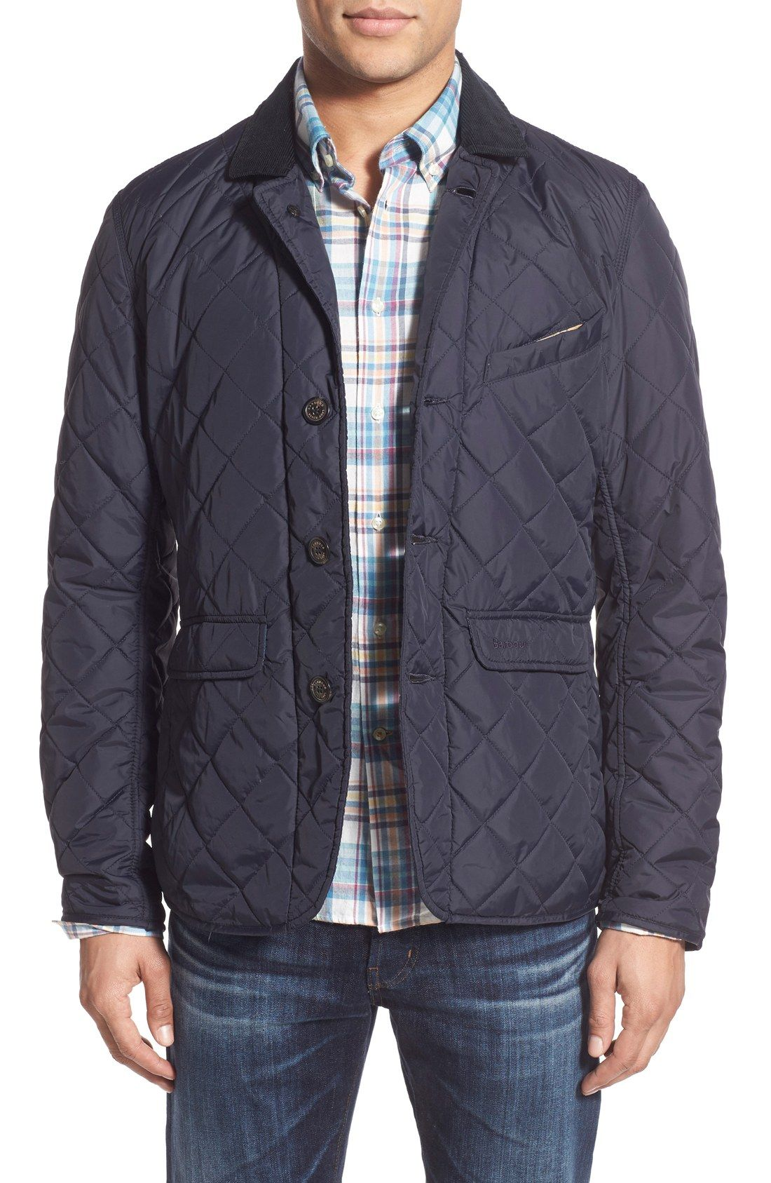 Barbour Quilted Jacket with Corduroy Collar | Clothes | Pinterest ... : mens lightweight quilted jacket - Adamdwight.com