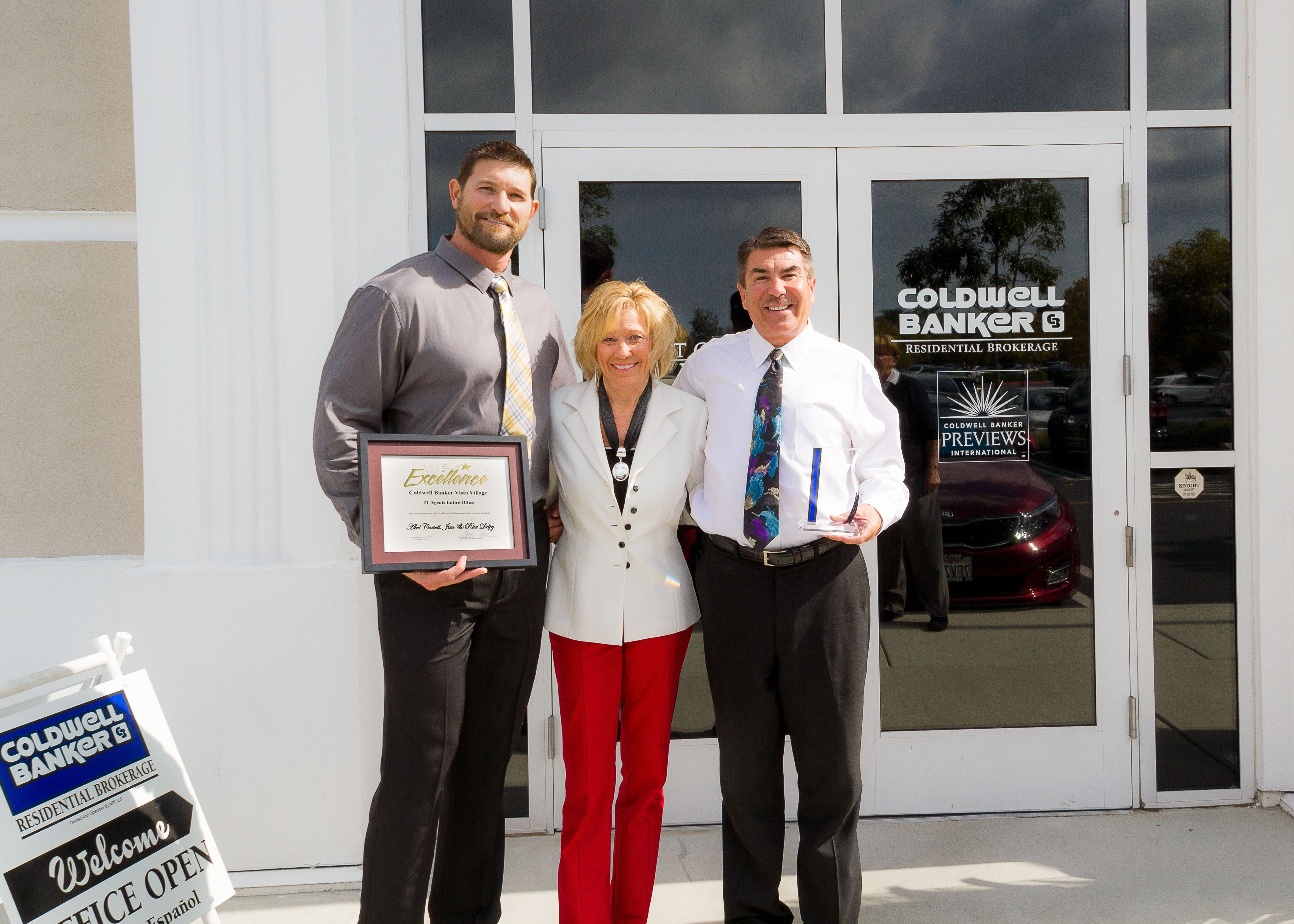SAN DIEGO, March 9, 2015 – Abel Cassell and Jim Delpy, independent sales associates with Coldwell Banker Residential Brokerage's Vista office, have been named the No. 1 sales associates of the brokerage's Vista office. Both sales associates, a team since 2005, are top producers and have achieved high rankings over the last 5 years.