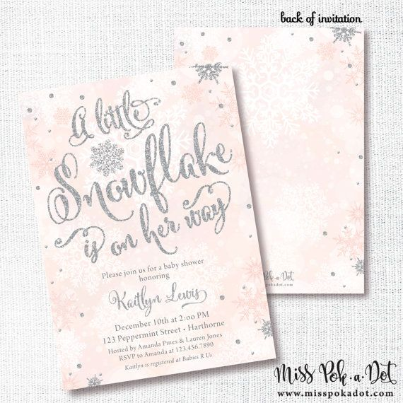 printable invite editable template a little snowflake baby shower template Winter baby shower invitation baby shower dec baby sprinkle