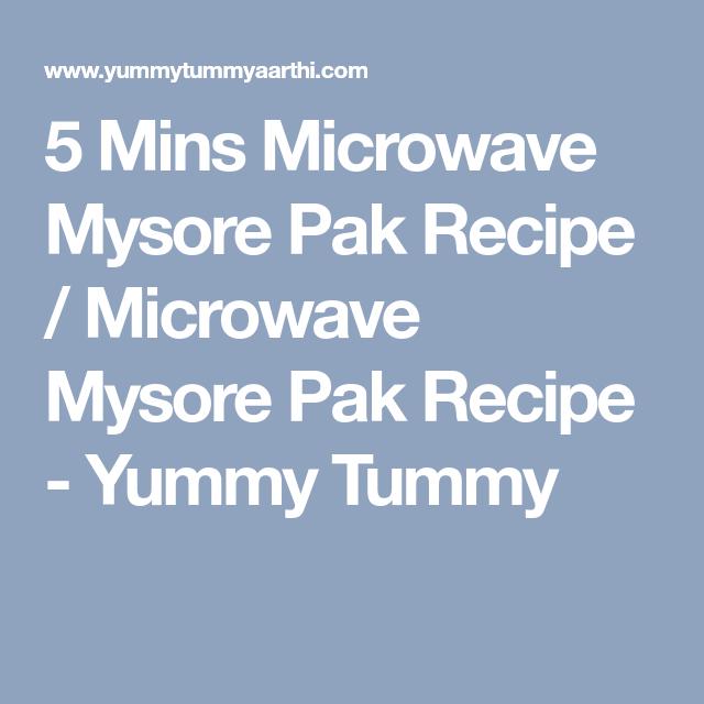 Mysore Pak Recipe In Microwave Oven: 5 Mins Microwave Mysore Pak Recipe / Microwave Mysore Pak