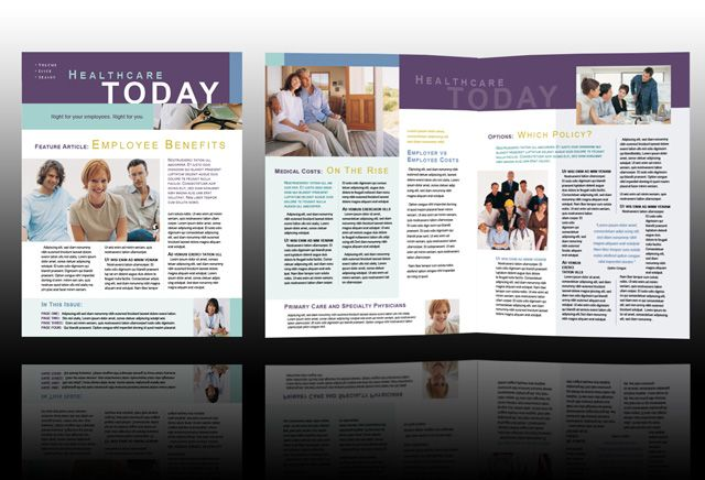 medical newsletter Company Newsletter Templates Layout - employee newsletter template