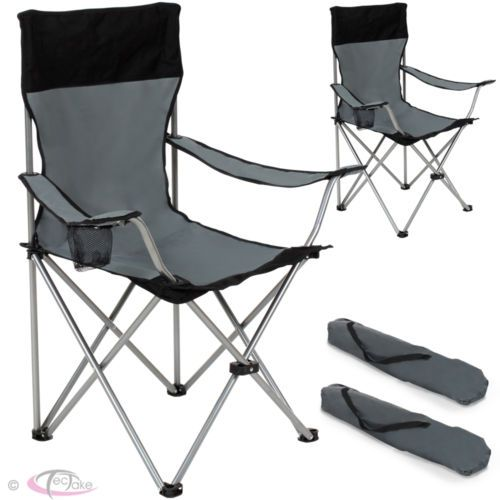 2x Heavy Duty Folding Camping Directors Chair With Cup Holder