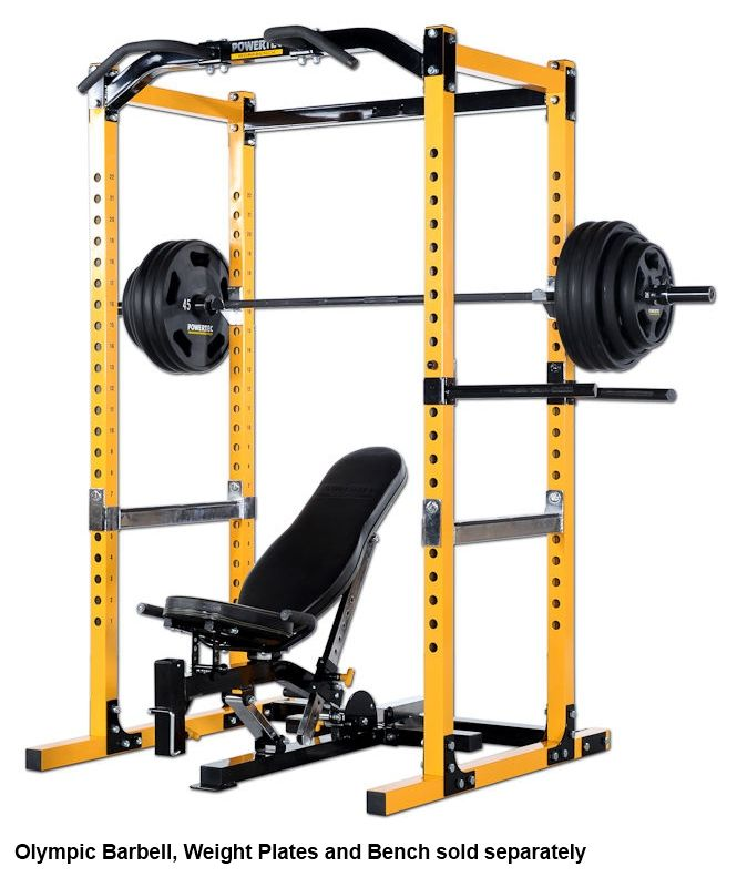 Power Rack With Weights: Details About POWERTEC Power Rack