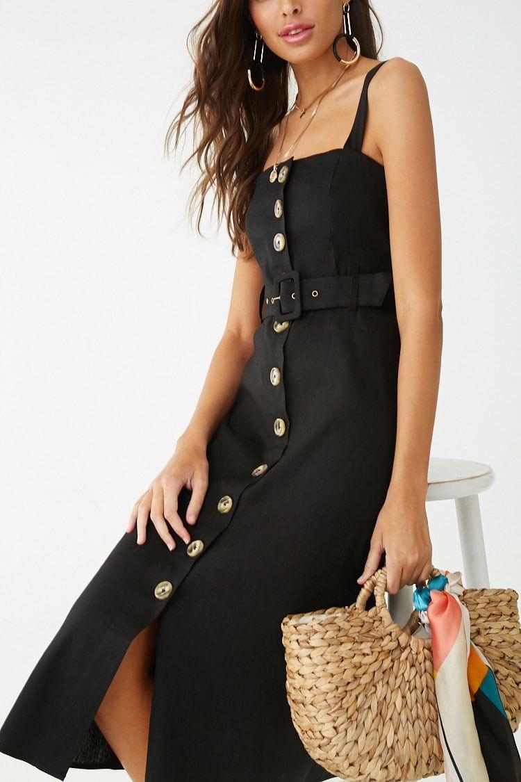 3eafe5ff91e dress for philanthropy round of sorority recruitment. Linen-Blend Button- Front ...