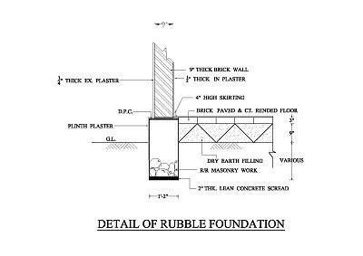 Rubble Foundation Foundation Concrete Wrk