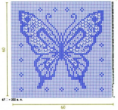 Filet crochet butterfly pattern | mariel elizabeth | Pinterest ...