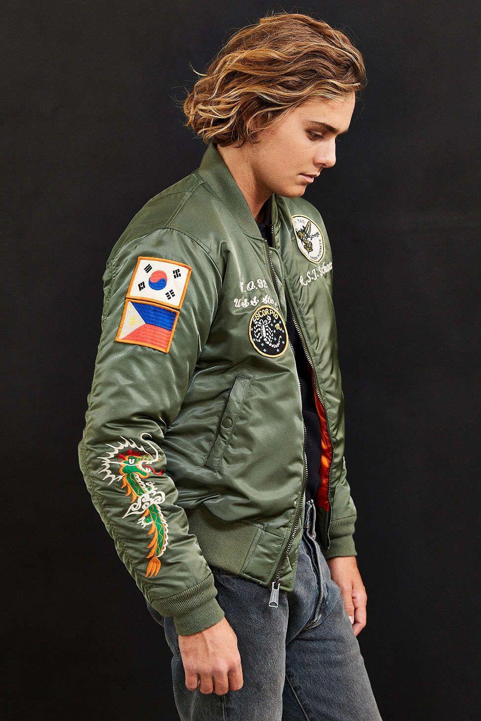 Schott Jacket Pinterest Custom Satin Souvenir Nylon Jacket Flight rvrPOq