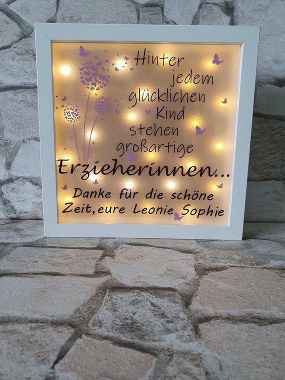 Photo of Beleuchteter Bilderrahmen, Abschiedsgeschenk für den Kindergarten, Erzieher, Tagesmutter, ect