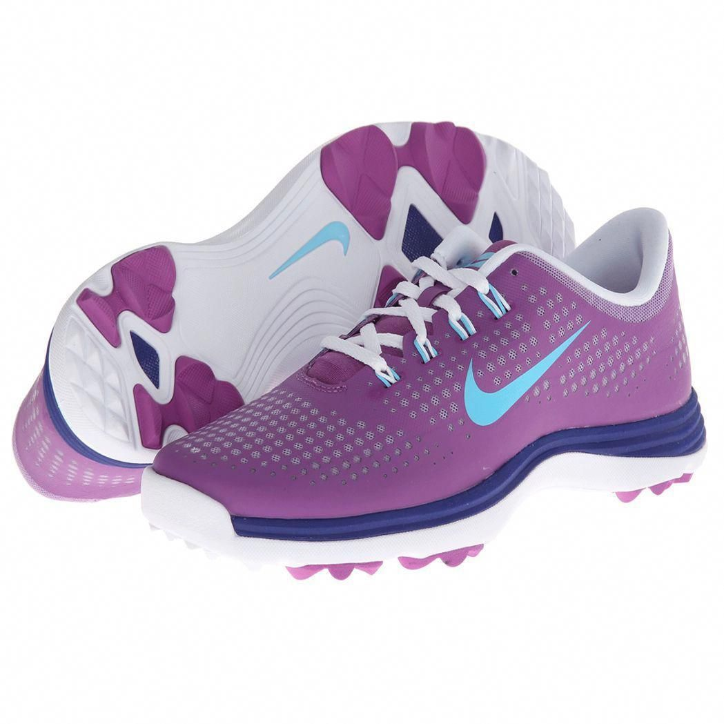 d20082ac1760 Nike Womens Lunar Empress Noble Violet  Deep Blue  Light Blue Golf Shoes (  Medium