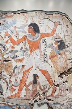 Tomb Chapel of Nebamun, Painting of Nebamun Hunting in Marshes