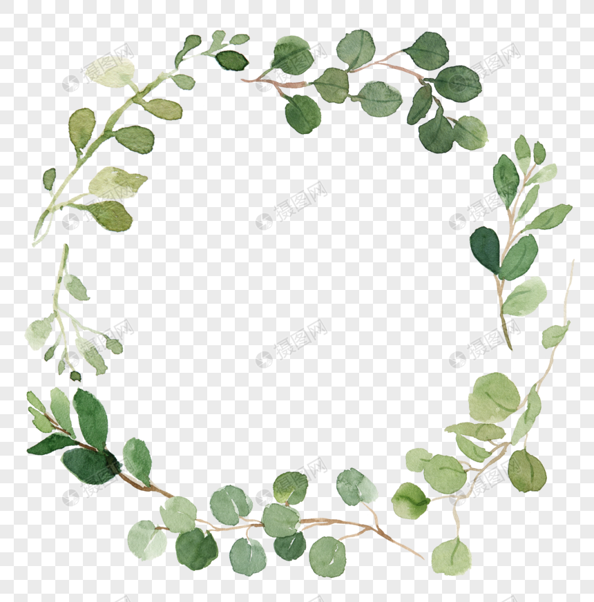 Watercolor Wreath Hand Painted Garlands Garlands Colored Wreath Shading Border Decorative Patterns Watercolor Garlands Wreath Watercolor Watercolor Image