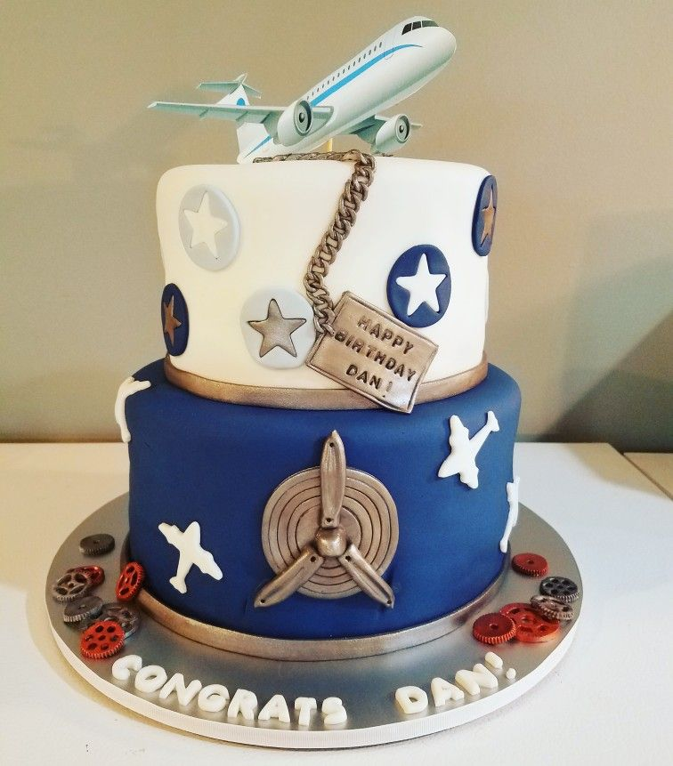 Aviation Maintenance Graduation Cake Airplane Birthday Cake