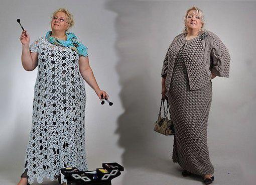 Платье крючком для полных женщин
