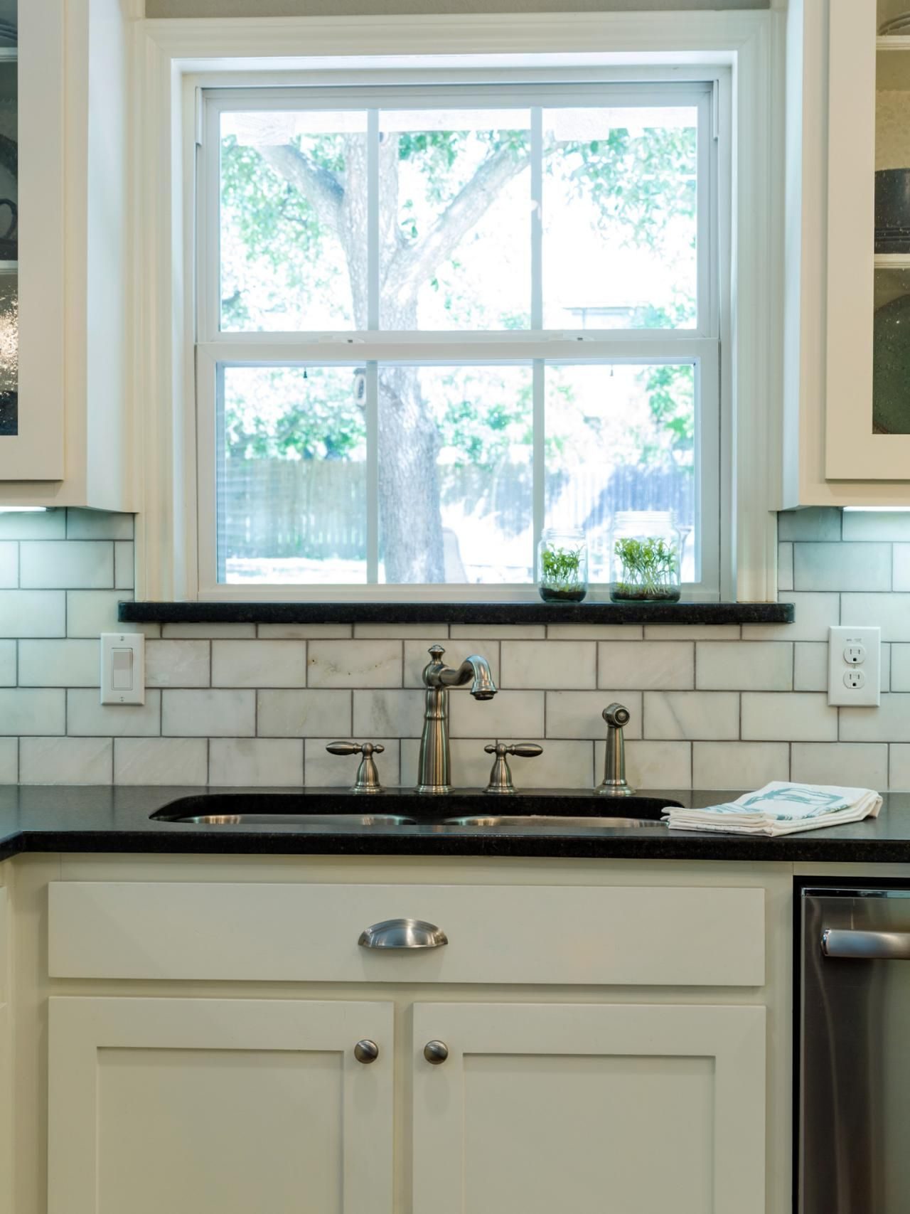 Backsplash Kitchen Window Images Of Chip And Joanna Gaines Kitchen Redo With Black