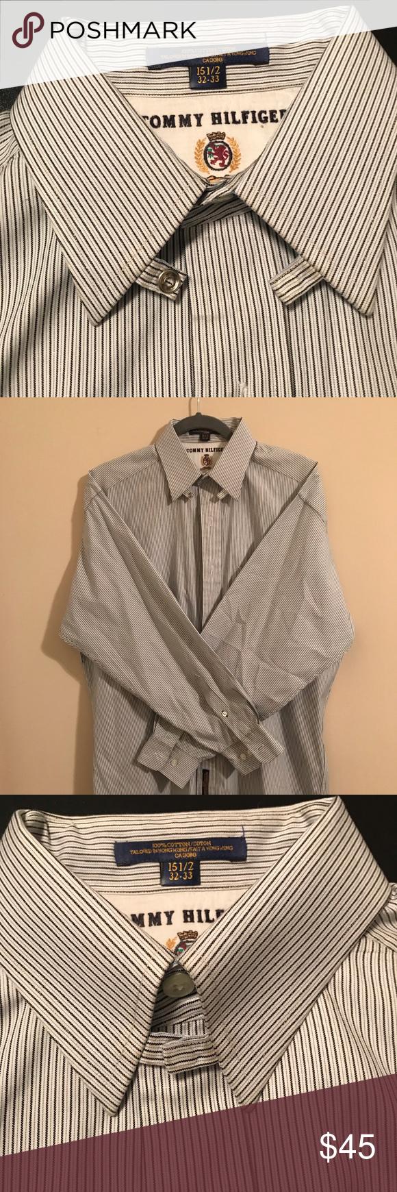 f396ae33 Tommy Hilfiger White Tab Collar Dress Shirt - DREAMWORKS
