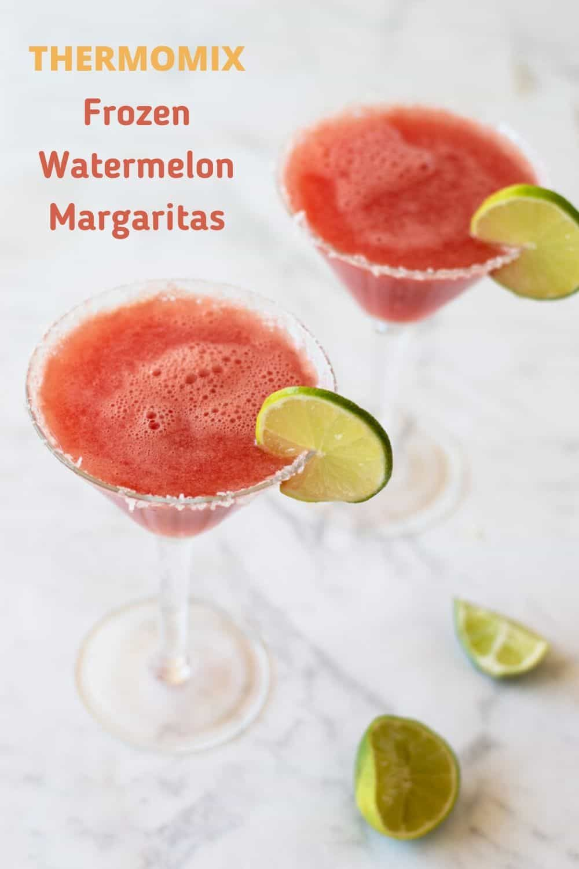 Thermomix Frozen Watermelon Margaritas Recipe In 2020 Watermelon Margarita Frozen Watermelon Frozen Watermelon Margarita