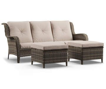 Best Wilson Fisher Oakmont Large Space Patio Seating Sofa 640 x 480