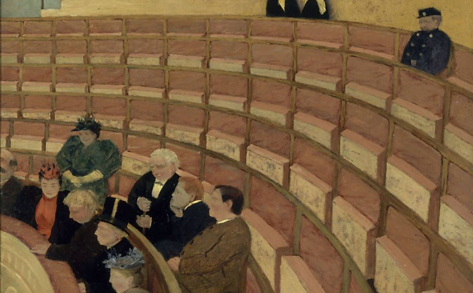 """The Third Gallery at the Châtelet Theatre"" by Félix Vallotton"