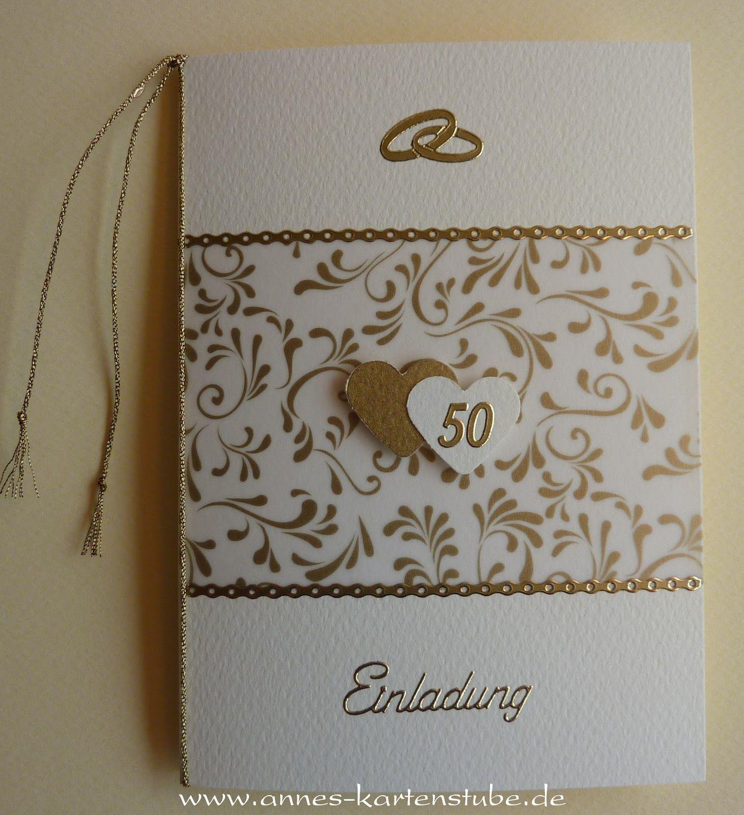 Annes Kartenstube Einladungskarten Goldene Hochzeit Einladung Goldene Hochzeit Einladungskarten Hochzeit