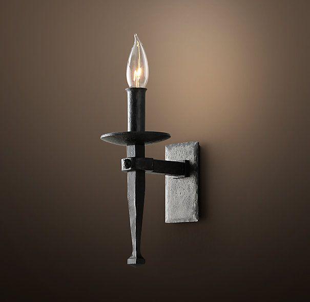 Circa 1920 Spanish Torch Sconce Restoration Hardware