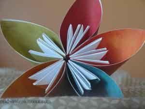 How to make an origami kusudama flower origami recycled magazines how to make an origami kusudama flower paper flowers craftorigami flowersrecycled mightylinksfo Choice Image
