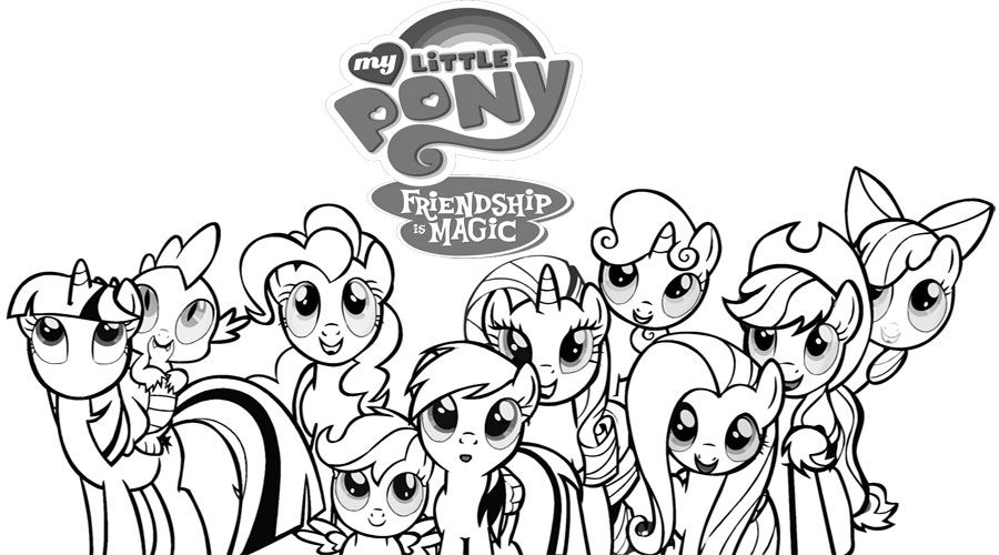 Coloring My Little Pony Coloring Pages For Kids With My Pony Friendship Is Magic Color My Little Pony Coloring My Little Pony Characters Vintage My Little Pony