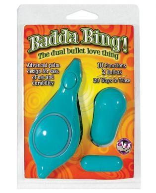 Badda bing dual bullet love thing - teal $30.49  $19.82 Save: $10.67