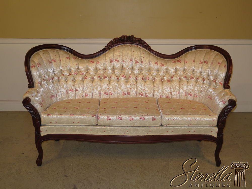 36893E: KIMBALL Victorian Mahogany Carved Sofa - 36893E: KIMBALL Victorian Mahogany Carved Sofa Victorian Decor