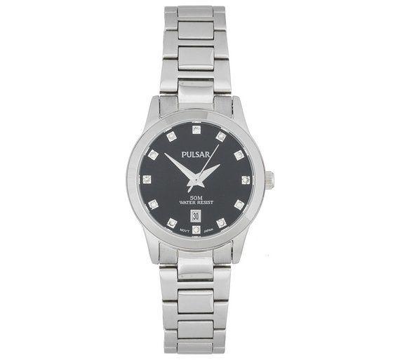 Buy Pulsar Ladies' Black Dial Bracelet Watch at Argos.co.uk, visit Argos.co.uk to shop online for Ladies' watches, Watches, Jewellery and watches
