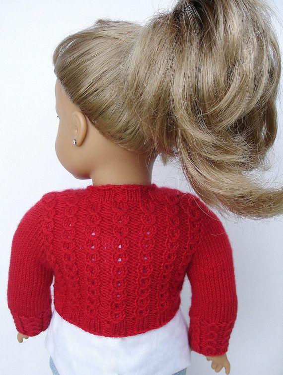 Charlotte Bolero suéter-PDF que hace punto patrón para 18   barbi ...