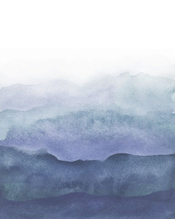 Ombre watercolor, navy blue ombre, backgrounds, for ...
