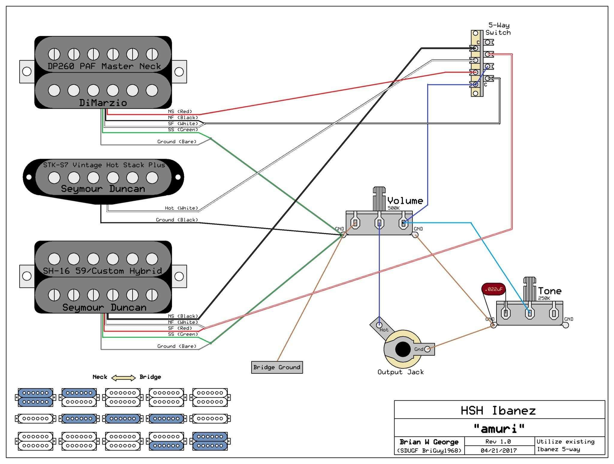 Wiring Diagram 3 Way Switch Awesome Ibanez Electric Guitar ... on
