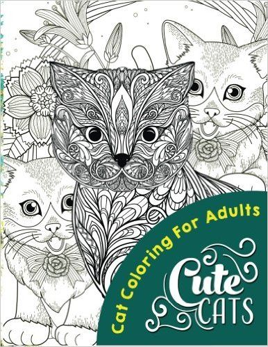 Cute Cats Adult Coloring Books Volume 1 Cat